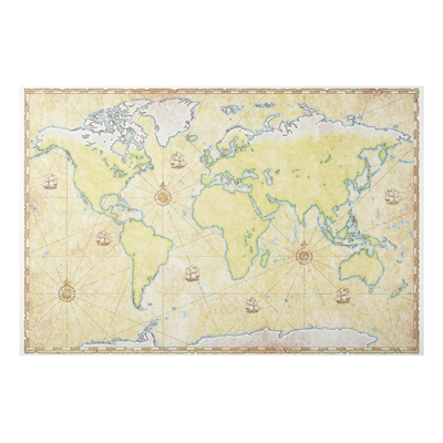 Aluminium Print - Wandbild World Map - Quer 2:3
