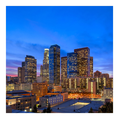 Vliestapete - Downtown of Los Angeles - Fototapete Quadrat